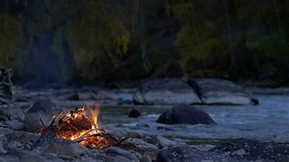 Camp Chuya Fire Nature River Camping Cinemagraph