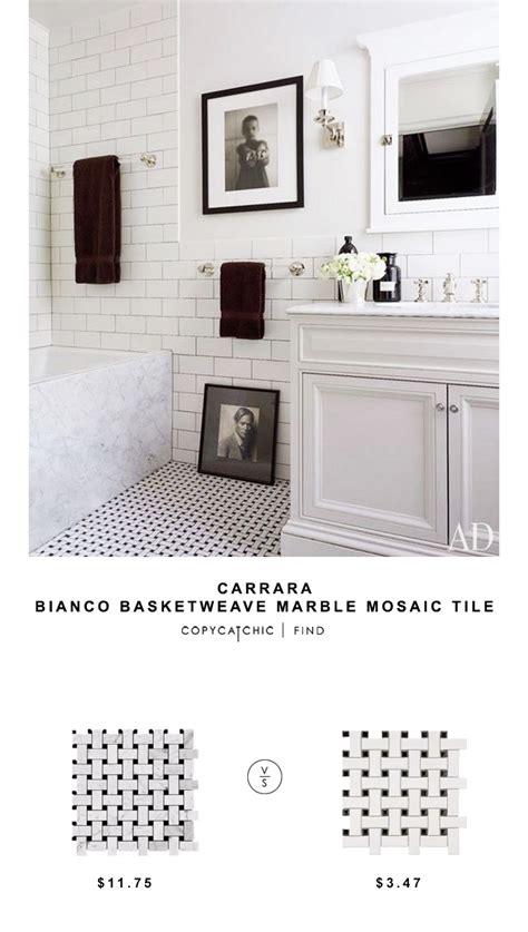 tile for less hours carrara bianco basketweave marble mosaic tile copy cat chic