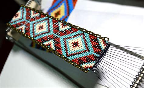 bead loom designs tutorial chainlink loom bracelet beading for business