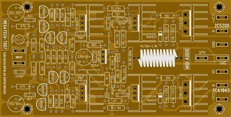 power amp circuit electronic circuit diagram  layout