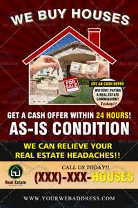 Real Estate We Buy Houses Flyers