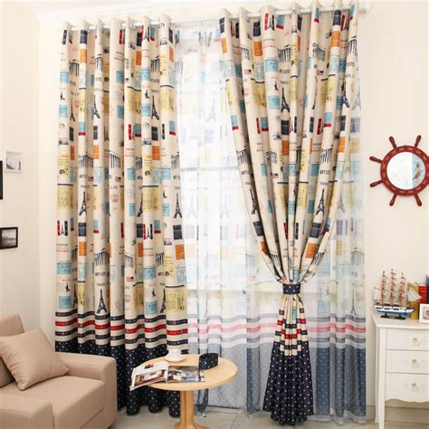 living room curtain vintage fashion child curtain boys
