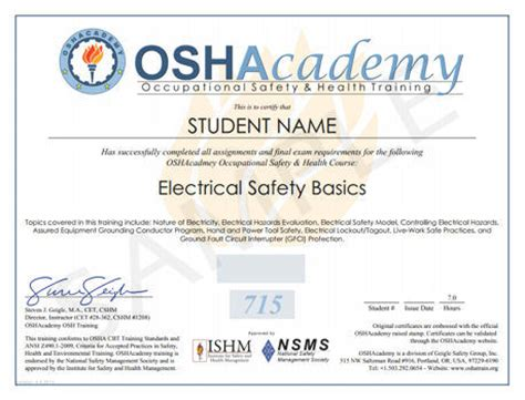 free certificate courses oshacademy free occupational safety and health
