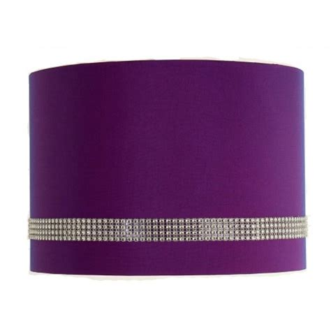 faux silk two tone purple pink diamante lshades