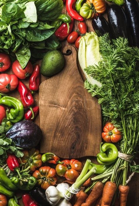 Fresh raw vegetable ingredients for healthy cooking or