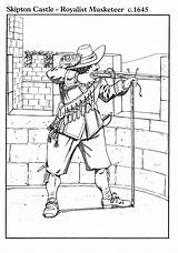 Coloring Musketeer Royalist Pages Printable sketch template