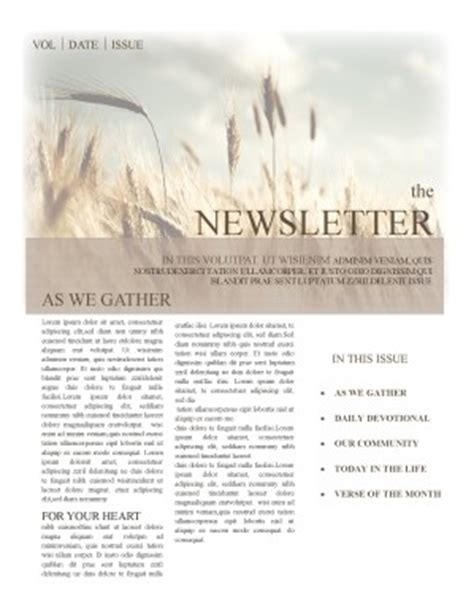 Free Christian Newsletter Templates by Christian Newsletter Templates Template Newsletter Templates