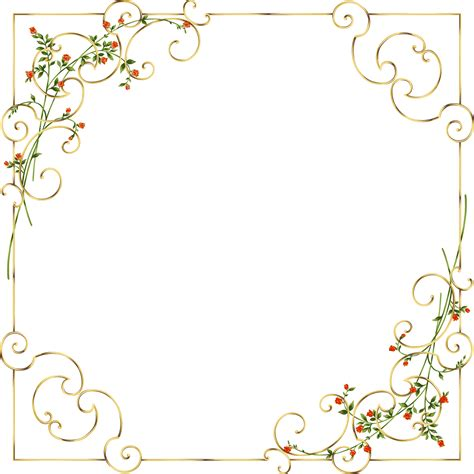frame soccer gold frame with delicate flowers рамочки