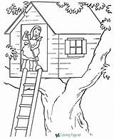 Coloring Pages Printable Farm Tree Chores Sheets Houses Adult Colour Fortune Teller Treehouse Drawing Books Building Fun Getcolorings Printing Colorings sketch template