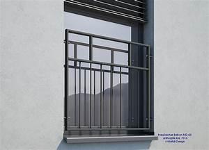 Geländer Französischer Balkon : franz sischer balkon md 03p pulverbeschichtet anthrazit ~ Michelbontemps.com Haus und Dekorationen