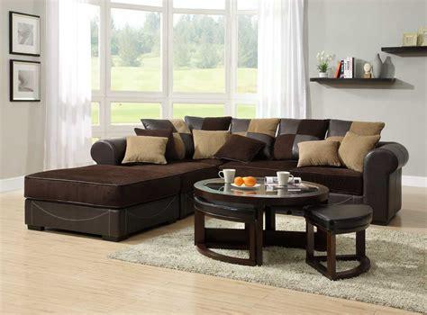 dark brown sectional sofa homelegance lamont modular sectional sofa set a