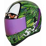 Icon Helmet Leaf Motorcycle Pot Weed Face