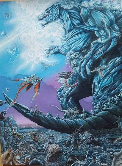 Godzilla Earth King Monsters Kaiju Vs Fan