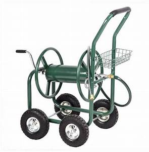 Heavy Duty Garden Water Hose Reel Cart Storage