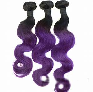 22 Inch Body Wave Hair Chart 18 Black Purple Ombre Weave Body Wave Weft Remy Human