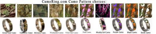 orange camo wedding rings camo wedding rings