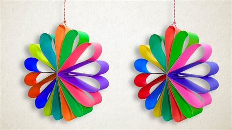 paper christmas decorations multi colored hanging paper
