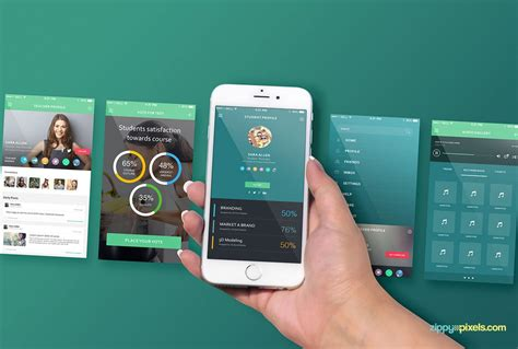 iPhone Perspective Screen Mockup