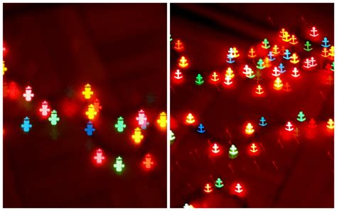 how to make heart and other shaped bokeh christmas