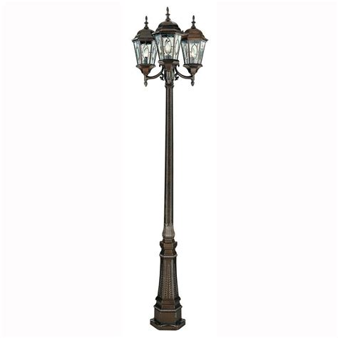 bel air lighting cameo 3 light outdoor brown l post