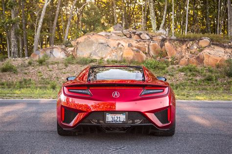 lapping massachusetts in a 2017 acura nsx automobile