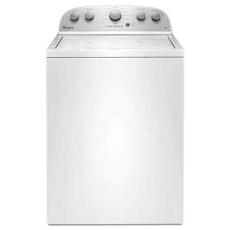 best washing machines shop whirlpool 3 5 cu ft top load washer white at lowes com