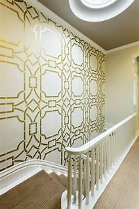 decoration chambre peinture murale 2 le pochoir With pochoir peinture murale deco