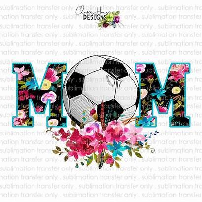 Mom Soccer Sublimation Transfer Floral Designs Clover