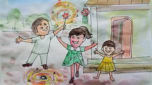 Happy Diwali Speacial - Drawing For Kids 2018 - YouTube