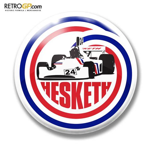 official hesketh racing 308 pin badge and sticker retrogp