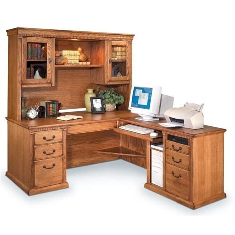 executive desk with hutch kathy ireland home by martin huntington oxford l shaped