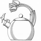 Coloring Kettle Pages Tea Teapot Maxine Para Template Colouring Sheets Teapots Colorear Madera Parts Clip Sketch Printable sketch template