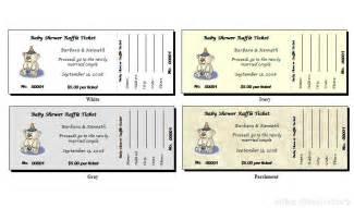 Free Baby Shower Raffle Tickets