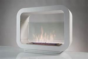 Cheminée Bio Ethanol A Poser Au Sol : cheminee bio ethanol blanche ~ Edinachiropracticcenter.com Idées de Décoration