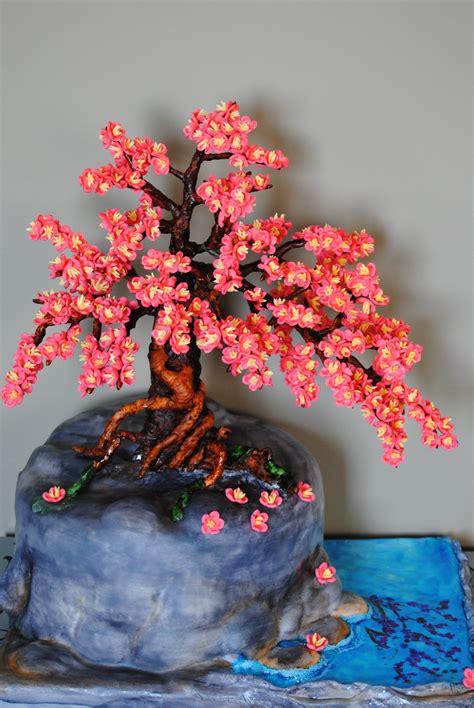 bonsai cherry blossom tree cake cakecentralcom