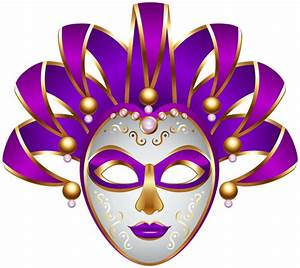 Purple Carnival Mask Transparent PNG Clip Art Image ...