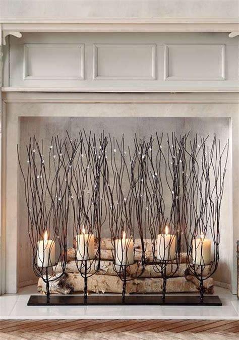 romantic fireplace candle ideas home design  interior