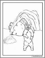 Bear Coloring Pages Cave Den Polar Template Teddy Bears Fuzzy Colorwithfuzzy Templates Grizzlies Animals sketch template