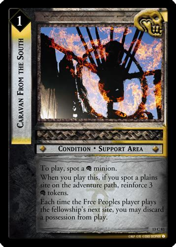 Releases that are entirely composed of prints from other releases are small. LotR TCG Wiki: Caravan From the South (13C83)