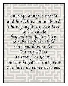Jennifer connel... Labyrinth Romantic Quotes