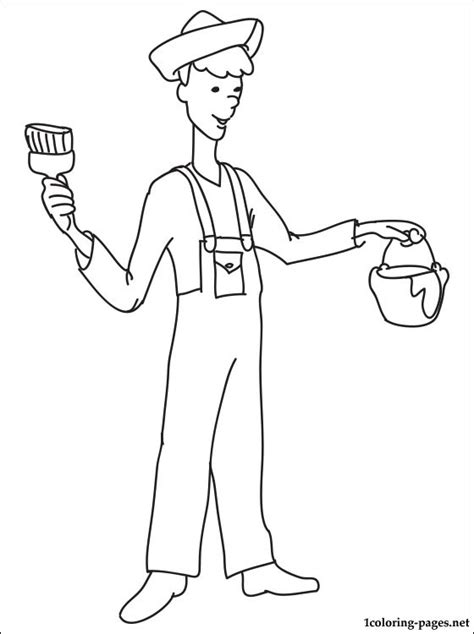 house painter coloring page coloring pages