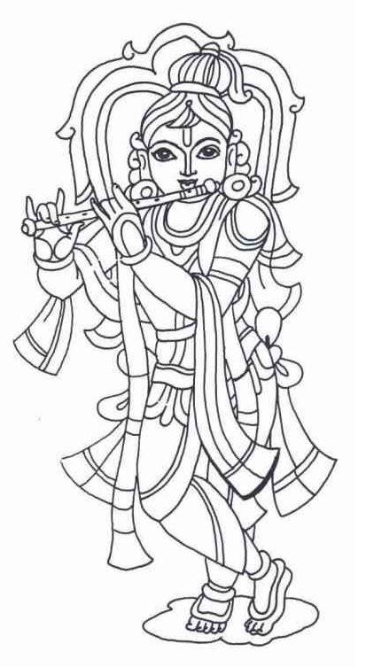 printable krishna coloring page coloringpagebookcom