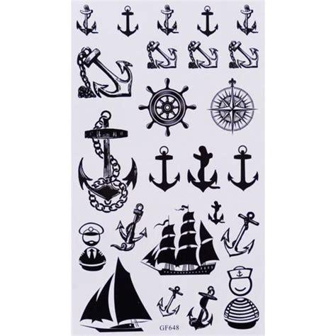 tatouage ancre marine tatouage temporaire ancre bateaux 24 stickers achat