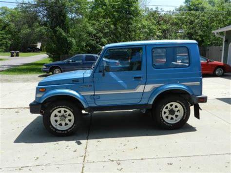 find used 1986 suzuki samurai hardtop great running rust free california car no reserve in
