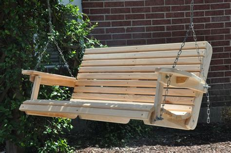 Wooden Porch Swings by 4 Cypress Porch Swing Wood Wooden Outdoor Furniture