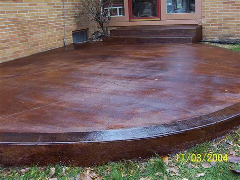 removing stain in stained concrete patio all home design