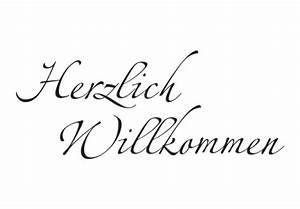 Herzlich Willkommen Bilder Zum Ausdrucken : zweifarbiges wandtattoo herzlich willkommen 4 von k l wall art begr en sie ihre g ste ~ Eleganceandgraceweddings.com Haus und Dekorationen