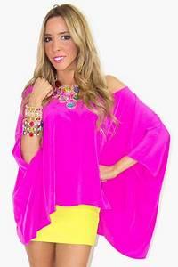 Hot Pink Tunic HAUTE & REEBELLIOUS Blouses