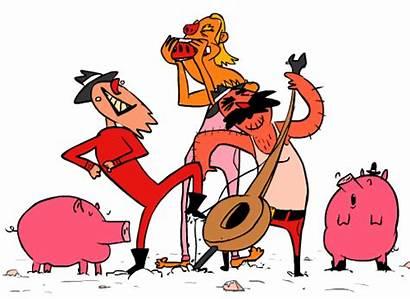 Pig Sing Animated Mud Dance Redneck Swine