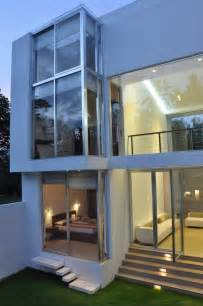 Glass Houses Designs by Amazing Glass Walls Design Ideas With Tree Painting